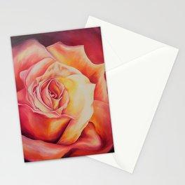 Sunset Rose Stationery Cards