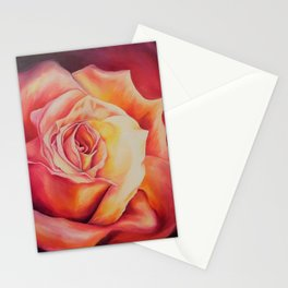 Sunset Rose Stationery Cards