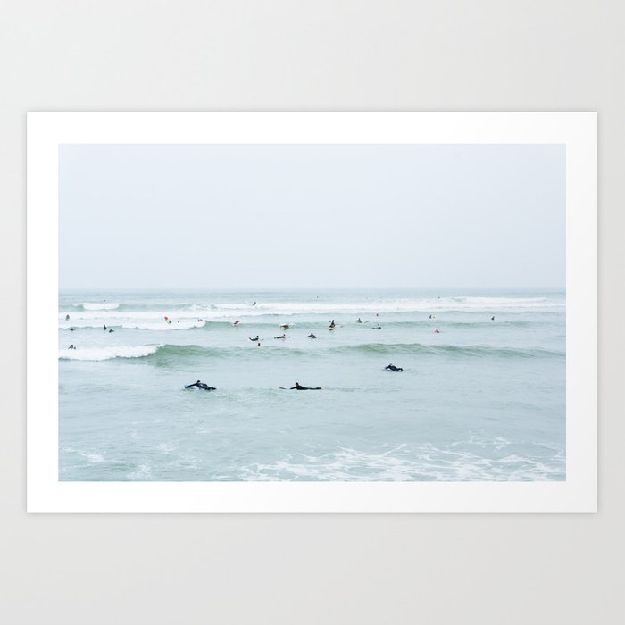 Tiny Surfers Lima, Peru Art Print