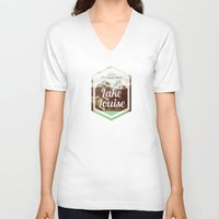 canada V-neck T-shirts featuring CANADA by Anna Trokan
