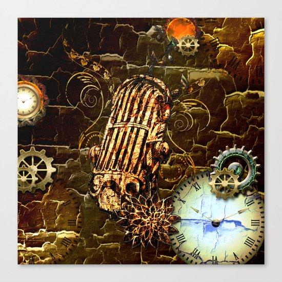 Steampunk, micropphone Canvas Print