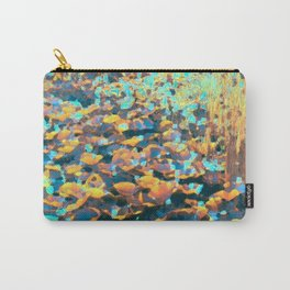Colorful Lily Pads And River Grass Carry-All Pouch