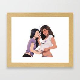 I love... Framed Art Print