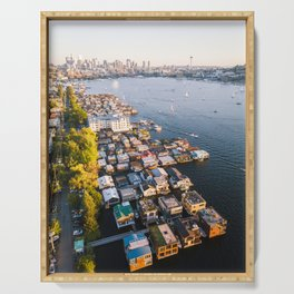 Houseboats on Lake Union Serving Tray