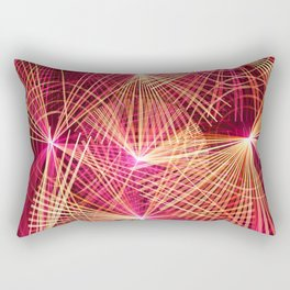 Raspberry Supernovae Geometric Abstract Rectangular Pillow