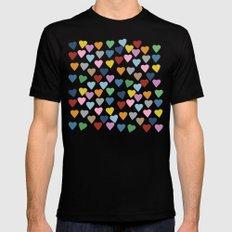 Hearts #3 MEDIUM Mens Fitted Tee Black