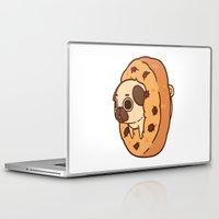 cookie Laptop & iPad Skins featuring Puglie Cookie by Puglie Pug