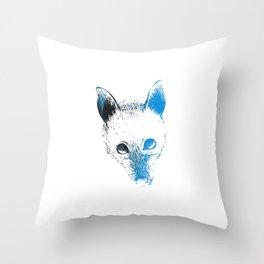 Flying fox face Throw Pillow