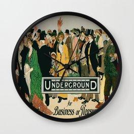 Vintage poster - London Underground Wall Clock