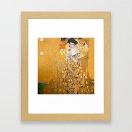 Gustav Klimt - Portrait of Adelle Bloch Bauer Framed Art Print