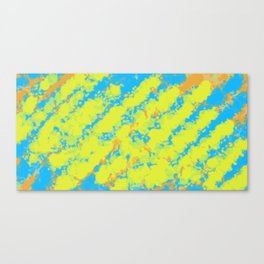 yellow blue and orange dirty painting abstract background Canvas Print