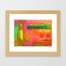 Orange Bollywood Delight Framed Art Print