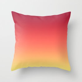 Red Orange Coral Yellow Gradient Ombre Pattern Throw Pillow