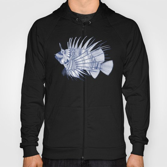 fish mirage blue Hoody