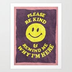 Remind Me Art Print