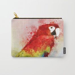 Watercolour scarlet macaw parrot bird Carry-All Pouch