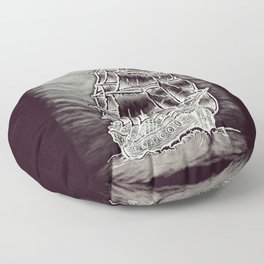 Caleuche Ghost Pirate Ship Variant Floor Pillow