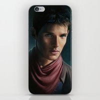 merlin iPhone & iPod Skins featuring Merlin by Angela Taratuta