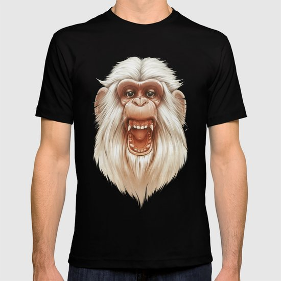 The White Angry Monkey T-shirt
