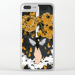 Ace of Swords Clear iPhone Case
