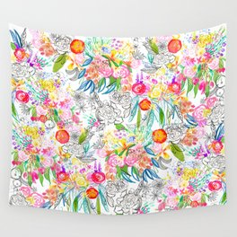 Tropical Botanical Sketchbook  Wall Tapestry