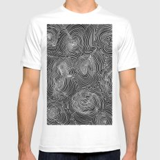 Inverse Contours Mens Fitted Tee White MEDIUM