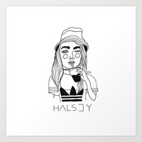 cactei Art Prints featuring Halsey by ☿ cactei ☿