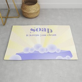 Soap... It Keeps You Clean Rug