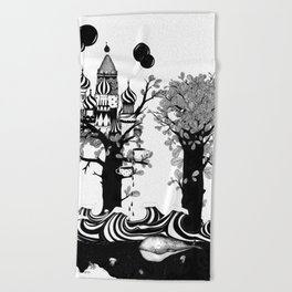 The Whale and The Balloons Beach Towel
