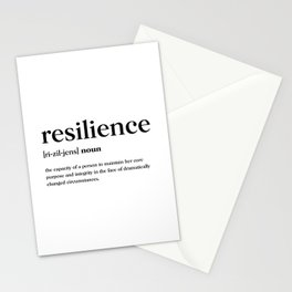 Resilience Definition Stationery Cards