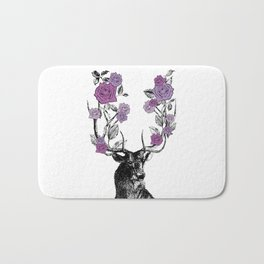 The Stag and Roses | Lilac | Purple Bath Mat