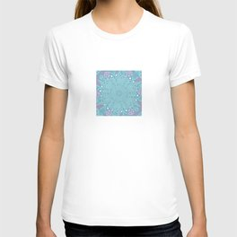 Crystallizing Snowflake Under a Microscope T-shirt