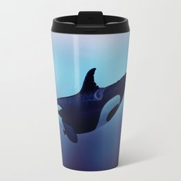 """Lost in Fantasy"" by Amber Marine ~ Orca / Killer Whale Art, (Copyright 2015) Travel Mug"