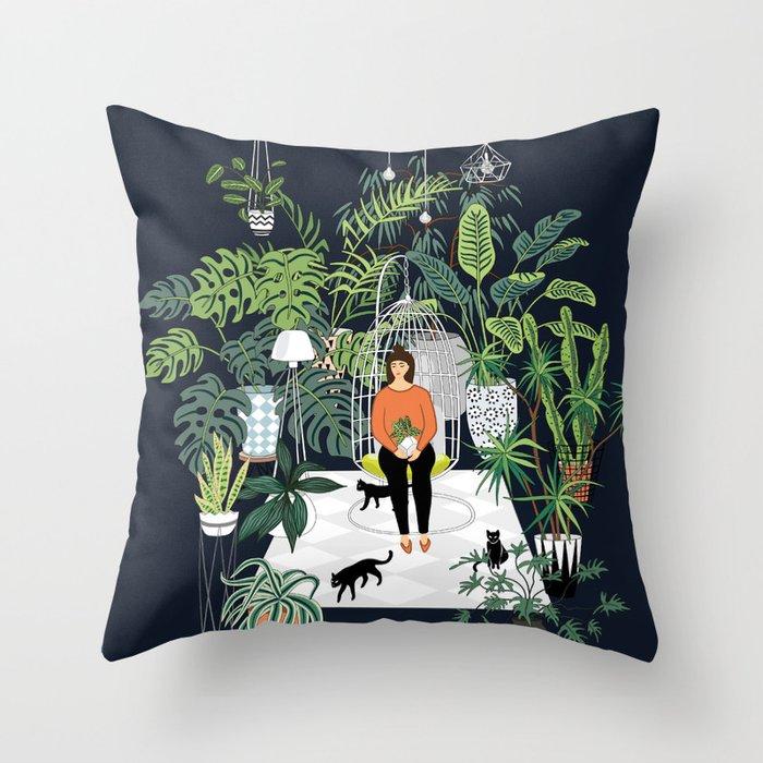 dark room print throw pillow by anyuka society6