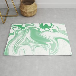 Green Abstract Ink Rug