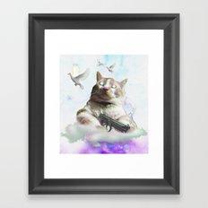 mi$hka the tra$hkat Framed Art Print