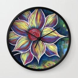 Burst of Color Wall Clock