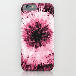 Soft Pink Red Black Tie Dye // Painted Multi Media Textured Acrylic Canvas Painting iPhone Case