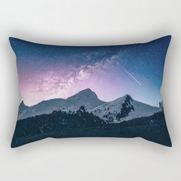 Shooting Star Over The Mountains Rectangular Pillow
