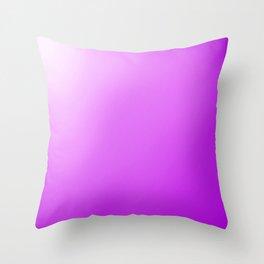 white to purple ombre Throw Pillow