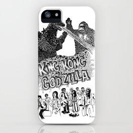Godzilla .vs. King Kong iPhone Case