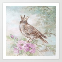 French Crown and Feathers Art Print