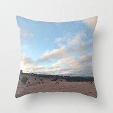 Landscape & Horses III Throw Pillow