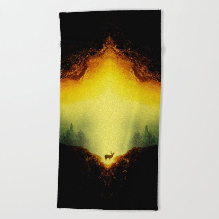 Oh Deer Beach Towel