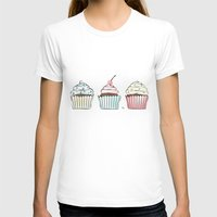 cupcakes T-shirts featuring Cupcakes by Martina
