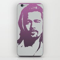 brad pitt iPhone & iPod Skins featuring Brad Pitt by Dora Birgis