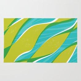 Ocean kelp in turquoise and green Rug