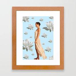 Bella Blue Framed Art Print