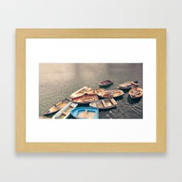 row your boats  Framed Art Print