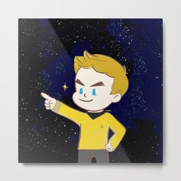 Star trek - James T. Kirk Metal Print